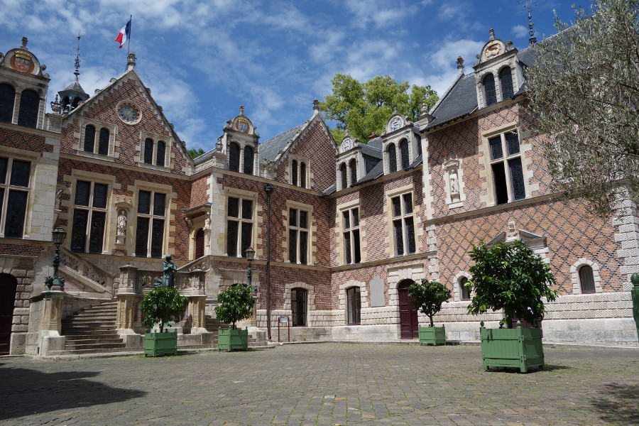 Photo of hôtel Groslot, a famous Renaissance Mansion where King of France Francis II. Orléans, Loire Valley, France.