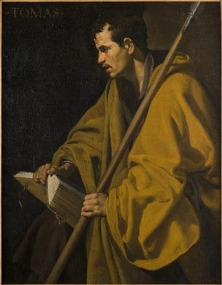 Foto del  Santo Tomás del museo de bella artes de Orleans, esta obra maestra es uno de los dos unicos cuadros de Diego Velázquez visible en Francia