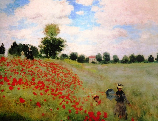 "Photo of an oil Painting by Claude Monet ""Coquelicots"" to illustrate an Orsay Museum Guided Tour in Paris, France."