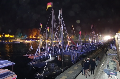 Night photo of the Loire Festival each two year in september