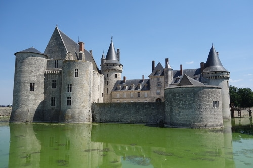 Photo of the Sully-sur-Loire Castle, Loire Valley, Orléans région, France.