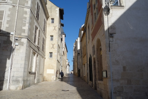 Rue de la poterne if you visit Orléans you won't be the first one to walk there at it is the former Gallo-Roman cardo