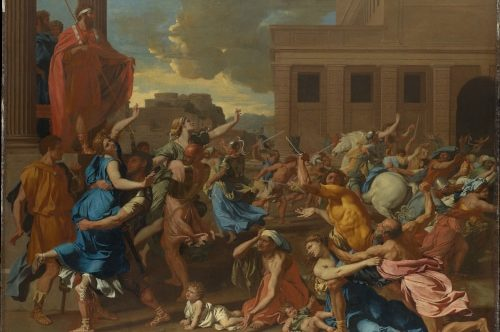 Photo a painting by Nicolas Poussin to illustrate  the 17th century Guided Tour ; Paris, France.