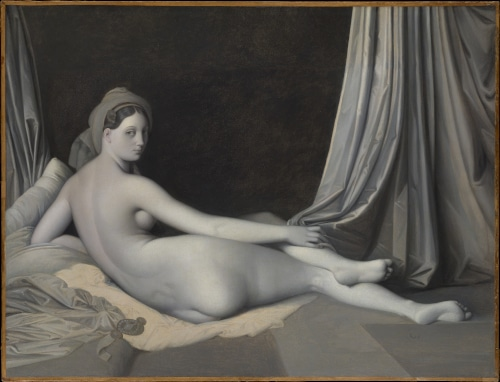 Photo of odalisque by Ingres to illustrate the Louvre 19th century french painting private tour in Paris, France