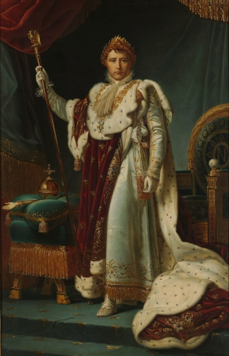 Portait of Emperor Napoleon I in coronation robes to illustrate Napoleon Tour in Paris