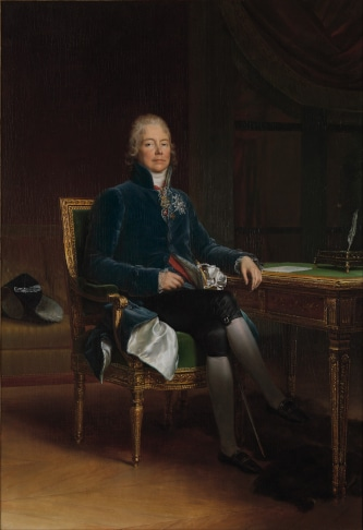 Portrait of Napoleon famous minister of foreign affairs Charles-Maurice de Talleyrand-Périgord to illustrate the Napoleon Tour in Paris
