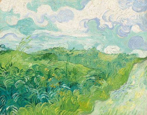 Vincent Van Gogh Green Wheat Fields at Auvers-sur-Oise