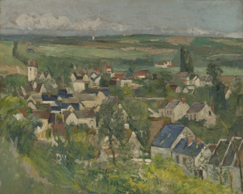 Panoramic View of Auvers-sur-Oise paintend by Cézanne
