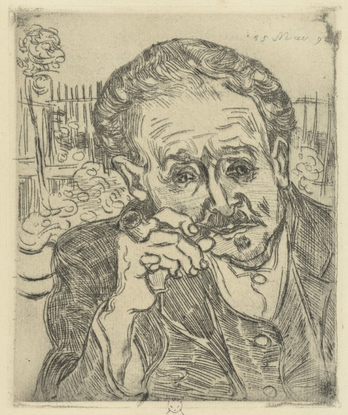 Dr. Gachet portait by Vincent Van Gogh