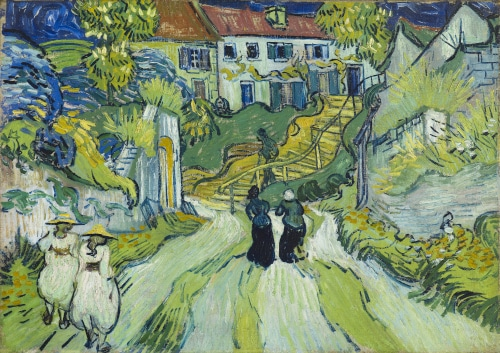 Stairway at Auvers by Vincent Van Gogh painted in Jully 1890