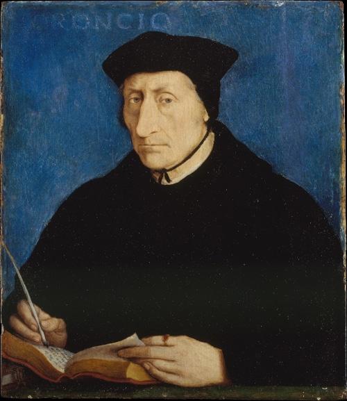 Portrait de Guillaume Budé, célébre humaniste français qui fut formé à l'université d'Orléans pour illustrer la visite guidée d'Orléans dans le Val de Loire, France.