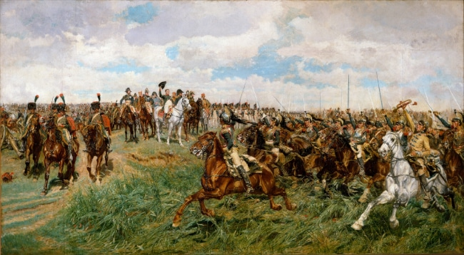 Battle of Friedland to illustrate the Napoleon Walking tour in Paris