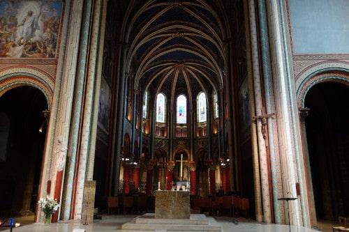 Choir of the Saint-Germain church to illustrate the Saint-Germain-des-Prés Church and Ancient Abbey Guided Tour in Paris, France