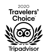 Image of the Tripadvisor award Travellers' Choice given to the better attractions on Tripadvisor.